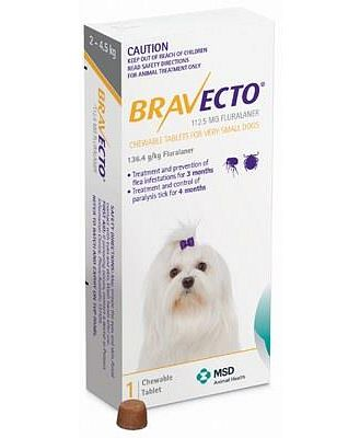 Bravecto Chewable Tablets For Very
