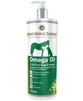 Natural Animal Solutions Omega 3 6 9 Oil For Dogs Or Horses 1000ml
