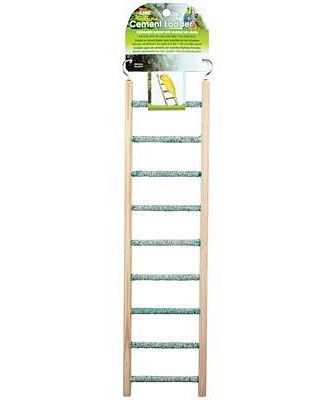 Penn Plax Cement Ladder With Wood Frame  9 Steps