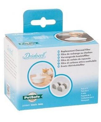 PETSAFE DRINKWELL REPLACEMENT FILTER CERAMIC AVALON CHARCOAL 4 PACK