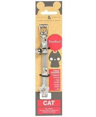Rufus Coco Flower Cat Collar Silver