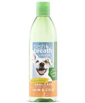 Tropiclean Fresh Breath Plus Water Additive Skin & Coat