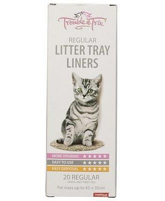 Trouble And Trix Cat Pan Liners Regular 20 Pack