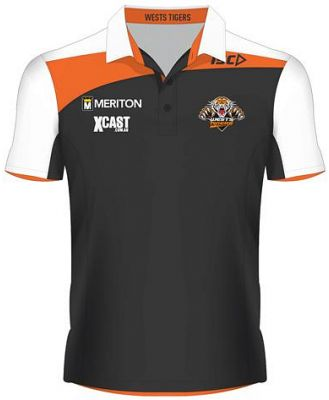 Wests Tigers 2015 Players Polo Black