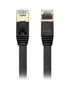 Edimax 0.5M Black 10GbE Shielded CAT7 Network Cable - Flat