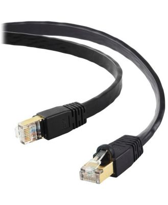 Edimax 5m Black 40GbE Shielded CAT8 Network Cable - Flat