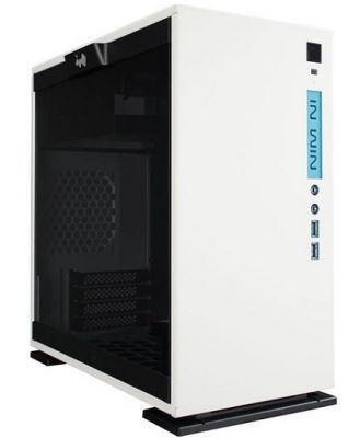 InWin 301 White mATX Tower Case w/ Tempered Glass Side Panel