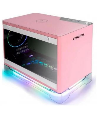 InWin A1 Plus Pink Mini-ITX Case w/ Tempered Glass Side Panel
