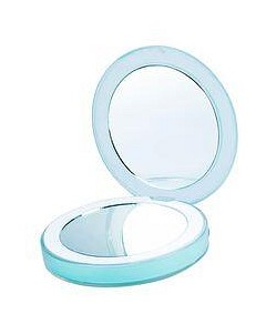 Allure Chic Rechargeable Compact Mirror - Teal Blue