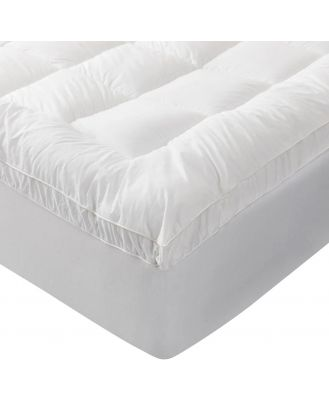 Sheridan Outlet 600Gsm Mattress Topper in White Size: Double Cotton/Polyester