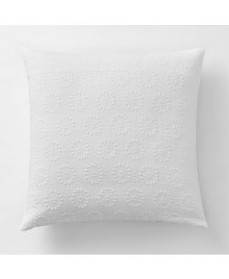 Sheridan Albyn Cushion in White Size: 45cm X 45cm Cotton