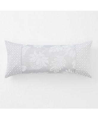 Sheridan Angelis Breakfast Cushion in Silver Size: 30cm X 50cm Cotton
