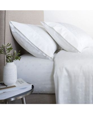 Sheridan Answorth 300TC Sheet Set in White Cotton