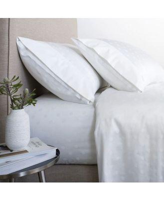 Sheridan Answorth 300TC Sheet Set in White Size: Double Cotton