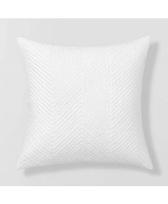 Sheridan Burrell Cushion in White Size: 45cm X 45cm Cotton