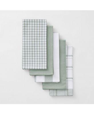 Sheridan Harling Tea Towel Set in Tea Green