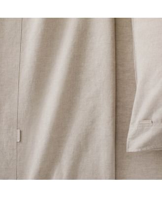 Sheridan Washed Linen Cotton Pair Pillowcase in Natural Size: