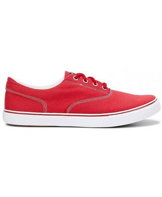 Chandler Sneaker Red Canvas