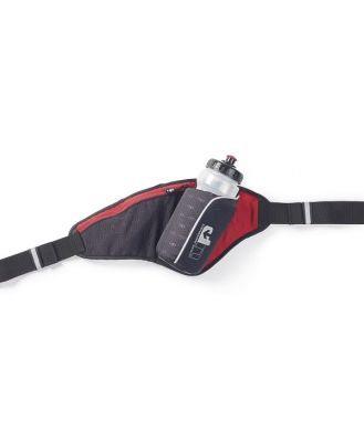 1000 Mile UP Ribble II Hydration Belt With Water Bottle - 650ml - Black/Red