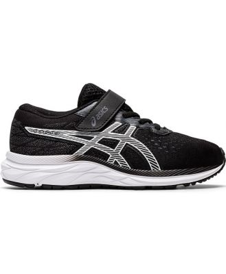 Asics Pre Excite 7 PS - Kids Running Shoes - Black/White