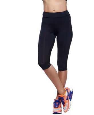 Bayse Sculpt 3/4 Length Compression Womens Training Tights - Black