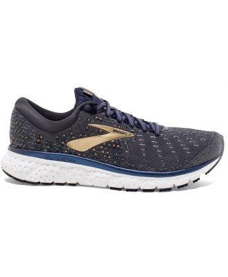 Brooks Glycerin 17 - Mens Running Shoes - Grey/Navy/Gold