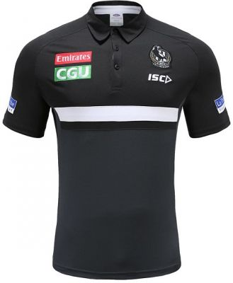 ISC Collingwood Magpies Mens Performance Polo Shirt 2020