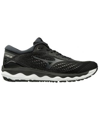 Mizuno Wave Sky 3 - Mens Running Shoes - Black/Dark Shadow/Metallic Shadow
