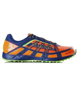 Salming Trail 3 - Mens Trail Running Shoes - Orange/Deep Blue