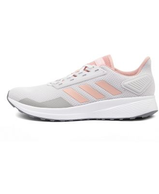 Adidas Duramo 9 W Grey Pastel Pink White Sneakers Womens Shoes Active Casual Sneakers