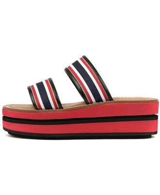 Alias Mae Minnie Am Red Navy Sandals Womens Shoes Casual Sandals Flat Sandals