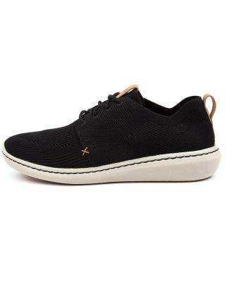 Clarks Step Urban Mix Ck Black Sneakers Mens Shoes Casual Casual Sneakers