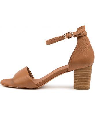 Diana Ferrari Cassoven Df Dk Tan Sandals Womens Shoes Dress Heeled Sandals