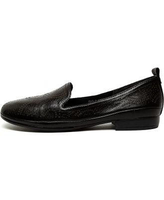 Diana Ferrari Ollee Df Black E Shoes Womens Shoes Casual Flat Shoes