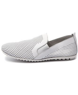Django & Juliette Bescara White Shoes Womens Shoes Casual Flat Shoes