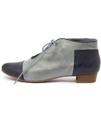 Django & Juliette Elista Navy Denim Shoes Womens Shoes Casual Flat Shoes