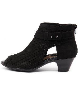Earth Intrepid Black Shoes Womens Shoes Casual Heeled Shoes