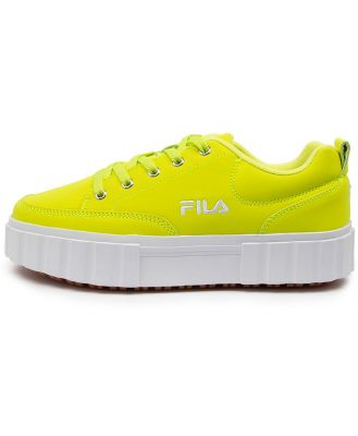 Fila Sandblast Low Ff Dk Yellow Tan Sneakers Womens Shoes Casual Casual Sneakers