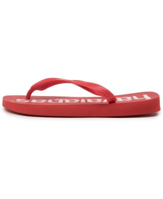 Havaianas Top Logo Mania Hv Ruby Red Sandals Mens Shoes Casual Sandals Flat Sandals