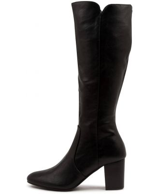 I Love Billy Millee Black Black Heel Boots Womens Shoes Casual Long Boots