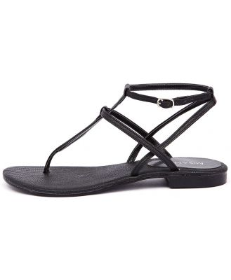 Misano Shizu Black Sandals Womens Shoes Casual Sandals Flat Sandals