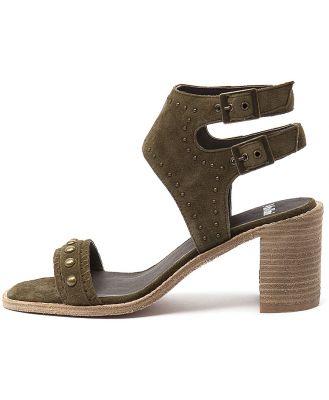 Mollini Deedee Khaki Sandals Womens Shoes Casual Heeled Sandals
