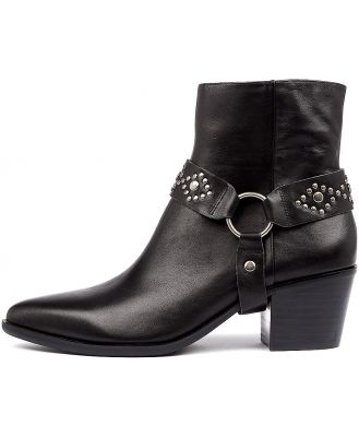 Mollini Rosetta Black Black Heel Boots Womens Shoes Casual Ankle Boots