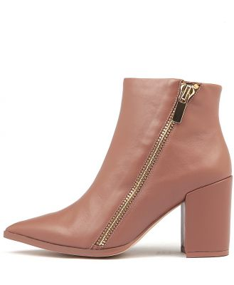 Nude Stevie Nu Cocoa Boots Womens Shoes Dress Ankle Boots