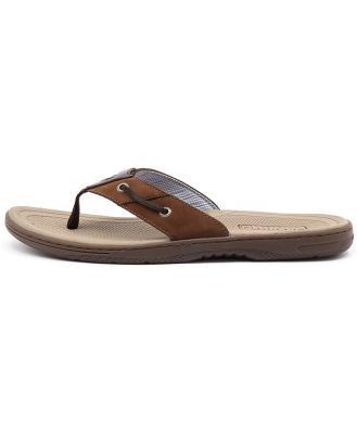 Sperry Baitfish Thong Brown Buc Brown Sandals Mens Shoes Casual Sandals Flat Sandals