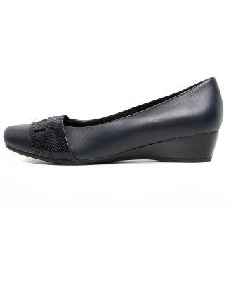 Supersoft Renzo Navy Shoes Womens Shoes Casual Flat Shoes