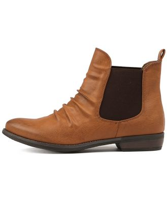 Therapy Redwood Brown Boots Womens Shoes Casual Ankle Boots