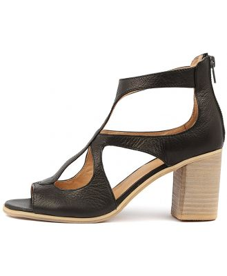 Top End Winfolm Black Sandals Womens Shoes Casual Heeled Sandals