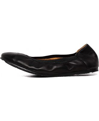 Walnut Ava Mini Leather Ballet Black Shoes Girls Shoes Party Flat Shoes