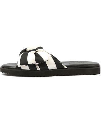 Walnut Sadie Slide Black Sandals Womens Shoes Active Sandals Flat Sandals